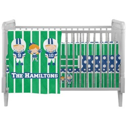 Football Crib Comforter / Quilt (Personalized)
