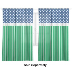 "Football Curtains - 20""x63"" Panels - Lined (2 Panels Per Set) (Personalized)"