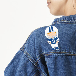Football Large Custom Shape Patch (Personalized)