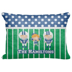 "Football Decorative Baby Pillowcase - 16""x12"" (Personalized)"