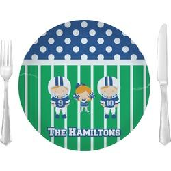 Football Glass Lunch / Dinner Plates 10