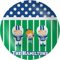 Football Melamine Plate (Personalized)
