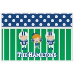 Football Laminated Placemat w/ Multiple Names