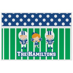Football Placemat (Laminated) (Personalized)