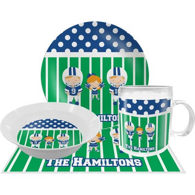 Football Dinner Set - 4 Pc (Personalized)