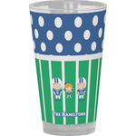 Football Drinking / Pint Glass (Personalized)