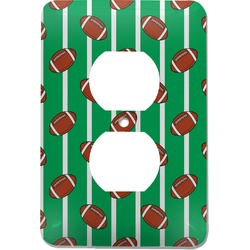 Football Electric Outlet Plate (Personalized)