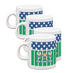 Football Espresso Mugs - Set of 4 (Personalized)