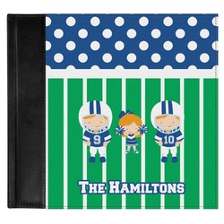 Football Genuine Leather Baby Memory Book (Personalized)