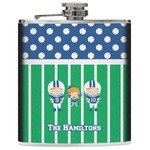 Football Genuine Leather Flask (Personalized)