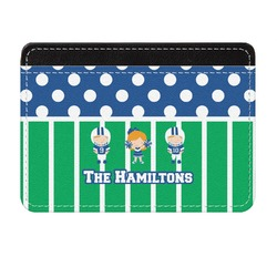 Football Genuine Leather Front Pocket Wallet (Personalized)
