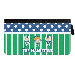 Football Genuine Leather Ladies Zippered Wallet (Personalized)
