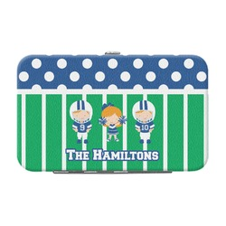 Football Genuine Leather Small Framed Wallet (Personalized)