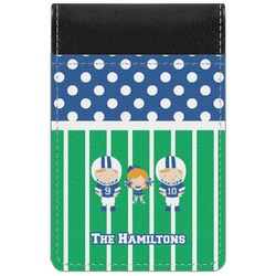 Football Genuine Leather Small Memo Pad (Personalized)