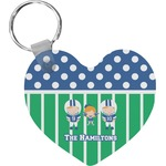 Football Heart Keychain (Personalized)