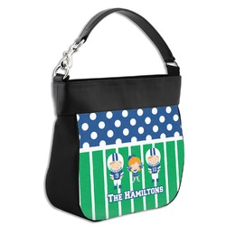 Football Hobo Purse w/ Genuine Leather Trim (Personalized)