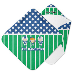 Football Hooded Baby Towel (Personalized)