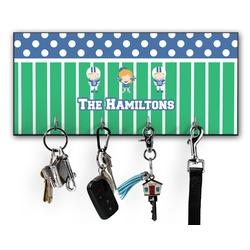Football Key Hanger w/ 4 Hooks w/ Multiple Names