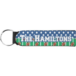Football Neoprene Keychain Fob (Personalized)