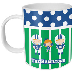 Football Plastic Kids Mug (Personalized)