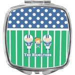 Football Compact Makeup Mirror (Personalized)
