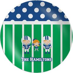 "Football Melamine Plate - 8"" (Personalized)"