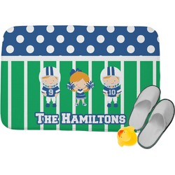 Football Memory Foam Bath Mat (Personalized)