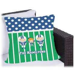 """Football Outdoor Pillow - 16"""" (Personalized)"""