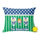 Football Outdoor Throw Pillow (Rectangular) (Personalized)