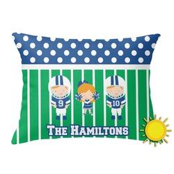Football Outdoor Throw Pillow (Rectangular) (Personalized)