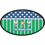 Football Oval Trailer Hitch Cover (Personalized)