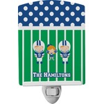Football Ceramic Night Light (Personalized)
