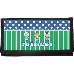Football Canvas Checkbook Cover (Personalized)