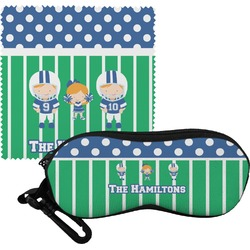 Football Eyeglass Case & Cloth (Personalized)
