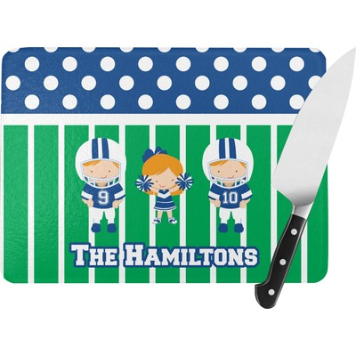 Football Rectangular Glass Cutting Board (Personalized)