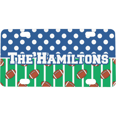 Football Mini / Bicycle License Plate (4 Holes) (Personalized)