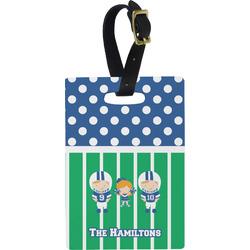Football Rectangular Luggage Tag (Personalized)