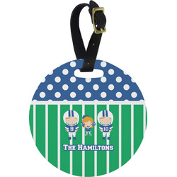 Football Round Luggage Tag (Personalized)