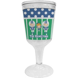 Football Wine Tumbler - 11 oz Plastic (Personalized)