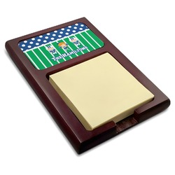Football Red Mahogany Sticky Note Holder (Personalized)
