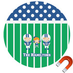 Football Round Car Magnet (Personalized)