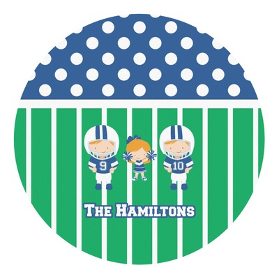 Football Round Decal (Personalized)