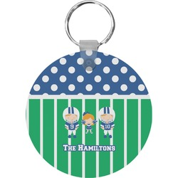 Football Round Keychain (Personalized)