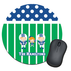 Football Round Mouse Pad (Personalized)