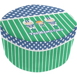 Football Round Pouf Ottoman (Personalized)