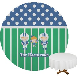 Football Round Tablecloth (Personalized)