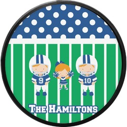 Football Round Trailer Hitch Cover (Personalized)