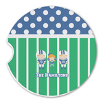 Football Sandstone Car Coasters (Personalized)