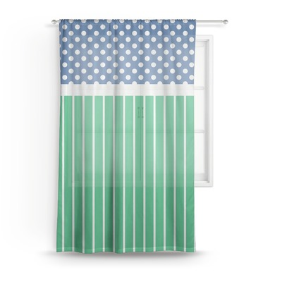 Football Sheer Curtains (Personalized)