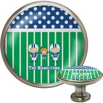 Football Cabinet Knob (Silver) (Personalized)